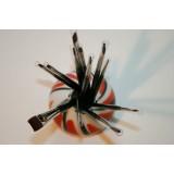 Kattetunge pensel/filbert - Til olie & akryl