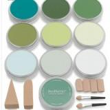 PanPastel, sæt m. 10 farver - Grønne farver