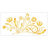 Stencil 15x30 cm, Floral