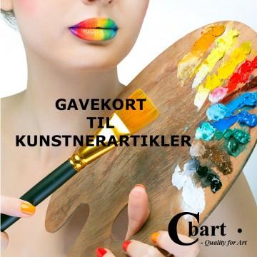 Gavekort til kunstnerartikler på Cbart.dk