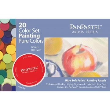 PanPastel, RENE FARVER sæt med 20 farver og værktøj