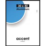 Alu ramme sort, Accent, kvalitets aluminium