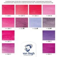 Van Gogh Akvarel pocketbox, Pink Colors, 12 farver+pensel