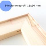 Blindramme løse, bred profil, 18x60 mm