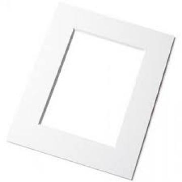 Passepartout, knækket hvid, 2 mm
