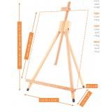 Bordstaffeli, tripod, foldbar - M15