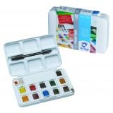 Van Gogh Akvarel pocketbox med 12 farver+pensel