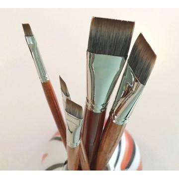 Cbart - RØDTOPPEN, flad pensel, til olie/akryl
