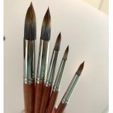 Cbart - RØDTOPPEN, rund/spids pensel, til olie/akryl