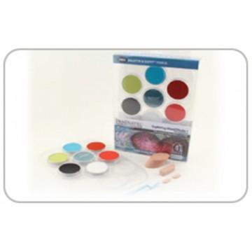 PanPastel, sæt m. 7 basisfarver og værktøjer