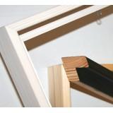 Lærred+sort svæveramme, 30x30 cm - SPAR 26%